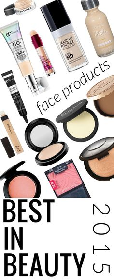 Best in Beauty 2015 for Face - the best highlighter, blushes, foundations, primer, powders, and concealers!