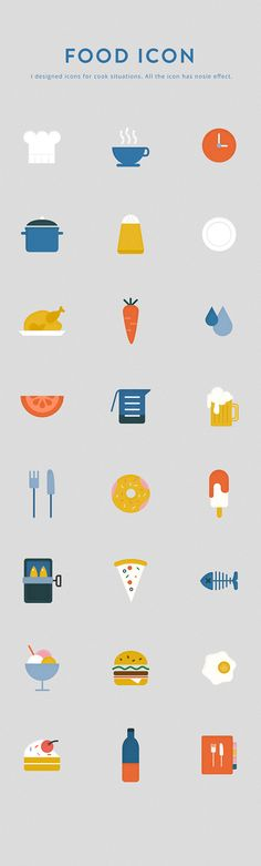Food icon on Behance