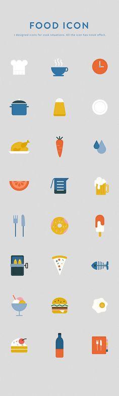 Food icon on Behance