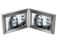 4 X 6 DOUBLE PICTURE FRAME, PEWTER  • Made of non-tarnish pewter material  • Holds two 4x6 photos  • Coordinating colors and sizes available  • Sleek frame enhanced by concourse line design  • Fashion Metal Collection  Reg Price $17.99  Special Price $10.43