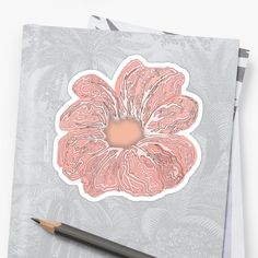 'Contour Flower Design' Sticker by iouryRB Glossier Stickers, Cotton Tote Bags, Flower Designs, Contour, Classic T Shirts, My Arts, Art Prints, Printed, Canvas