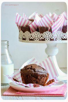 Cupcakes a gogó: Muffins extra chocolate con haba tonka