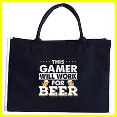 This Gamer Will Work For Beer - Tote Bag - Totes (*Amazon Partner-Link)