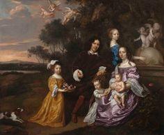 Jan Mytens (vers 1614 - 1670) [Portrait de famille près d'une fontaine}, 1663 Huile sur toile - 160,7 x 187 cm uckland, The Auckland Art Gallery Toi o Tamaki Photo : Lawrence Steigrad Fine Arts