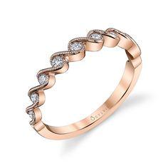 Designer Rose Gold Diamond Wedding Band | Diamond Wedding Band