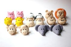 Fondant Cake Topper - Set of 3D Fondant Animals Heads - Perfectly Matches our Noah's Ark Cake Topper by Les Pop Sweets on Gourmly