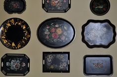 I like a nice collection of tole trays --