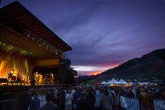 Sunset during the Telluride Jazz Festival. Photo by Ryan Bonneau.