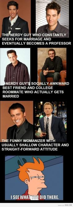 Similarity between Friends and How I met your mother