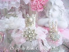 shabby chic perfume bottles | glam shabby chic perfume bottle this crown topped perfume bottle ...