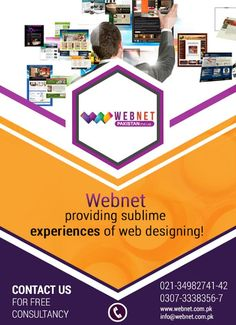 Webnet providing sublime experiences of Web Designing! Contact us : 021- 34982741-42 http://webnet.com.pk info@webnet.com.pk