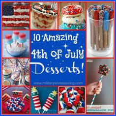 Amazingly Delicious 4th of July Desserts from Military Wives, whom we must also thanks and recognize on Independence Day! Thanks for all you do and the support and love you provide your loved ones. Happy 4th. Happy eating.