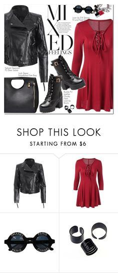 """Biker Jacket"" by oshint ❤ liked on Polyvore featuring Chanel"