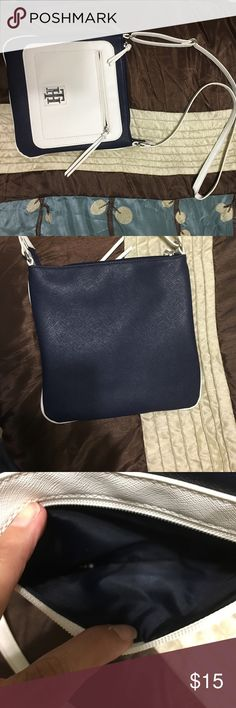 Tommy Hilfiger Crossbody bag White and blue Tommy Crossbody! Excellent condition! Bags Crossbody Bags