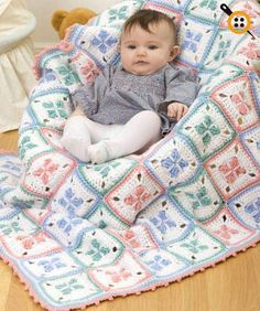 This baby afghan can be stitched with either Red Heart® Classic™ or Red Heart® Super Saver® yarn. Easy crochet instructions make a 38 x x blanket. Crochet Diy, Crochet Afgans, Baby Afghan Crochet, Manta Crochet, Crochet Bebe, Baby Afghans, Afghan Crochet Patterns, Love Crochet, Crochet For Kids