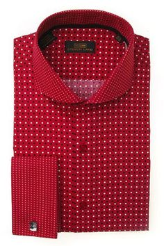 Steven Land Dress shirts DS1246 | Red $69 100% cotton dress shirts classic fit #StevenLand #Reds