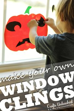 Homemade Halloween Decorations: Kid-Friendly DIY Window Clings