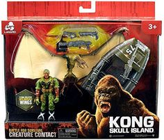 Kong Skull Island Creature Contact Playset With Winged Creature And Motorboat Kong Skull Island Toys, King Kong Skull Island, Gi Joe, Godzilla Toys, Jurassic World Dinosaurs, Cool Toys, Awesome Toys, Cool Cartoons, Pet Toys