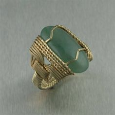 Russian Jade 14K Gold-filled Cocktail Ring