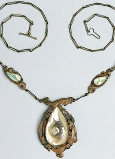 Necklace | Grant Wood (yes the same who painted American Gothic!), Necklace, 1915, copper and mother-of-pearl