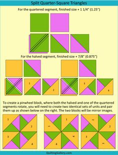 DS QAL: Creating Triangle and Flying Geese Units - Quilting Gallery Quilting For Beginners, Quilting Tips, Quilting Tutorials, Quilting Projects, Quilt Block Patterns, Quilt Blocks, Half Square Triangle Quilts Pattern, Flying Geese Quilt, Pinwheel Quilt