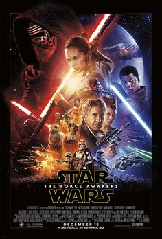 Directed by J.J. Abrams.  With Daisy Ridley, John Boyega, Oscar Isaac, Domhnall Gleeson. Three decades after the defeat of the Galactic Empire, a new threat arises. The First Order attempts to rule the galaxy and only a ragtag group of heroes can stop them, along with the help of the Resistance.