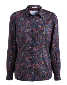 Joules Maywell Semi Fitted Shirt Navy Ditsy