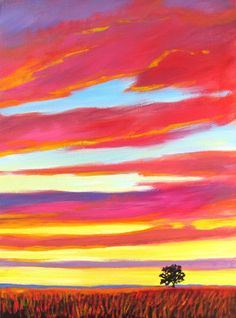 Prairie Sunset - giclee by ©Patty Baker (via ArtistRising)