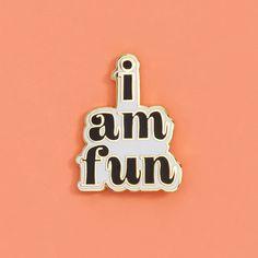 i am fun pin #adroll #april-flair #onlinepopup
