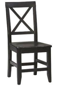 "Anna Dining Chair, 36.65""Hx17.25""W, ANTIQUE BLACK"