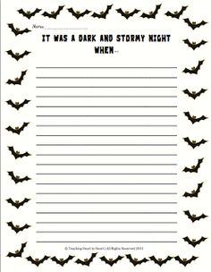 halloween writing center write a scary story super scary  halloween writing prompt students create a story using the prompt it was a dark