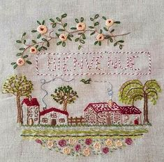 Crewel Embroidery, Vintage Embroidery, Embroidery Patterns, Cross Stitch Collection, House Quilts, Hand Applique, Embroidery Techniques, Needlepoint, Needlework