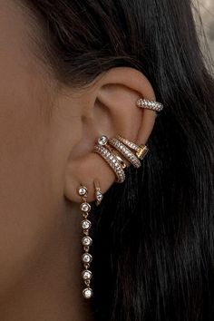 FAYE HOOPS, XL – Lili Claspe Jewel Box, Polished Brass, Baguette, Lily, Hoop Earrings, Jewels, Accessories, Videos, Photos