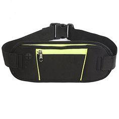 PANDA Water Resistant Running Belt Waist Pack Best Sports BeltPouch for Runners Running Bag Fanny Pack Travel Money Belt Large Pocket Fits For ALL Phones Black >>> For more information, visit image link.