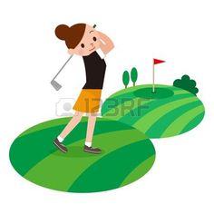 Girl golf player Golf Clip Art, Girls Golf, Golf Player, Book Girl, Tinkerbell, Vector Art, Childrens Books, Disney Characters, Fictional Characters