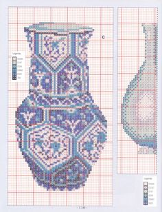 Oriental Vases of Decoration, Oriental, Cross Stitch, Quilts, Blanket, Vases, Home Decoration, Decor, Punto De Cruz