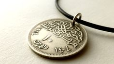 Coin necklace Egyptian necklace Coin jewelry Mosque by CoinStories