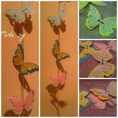❤ Ghirlanda di farfalle con Tutorial❤