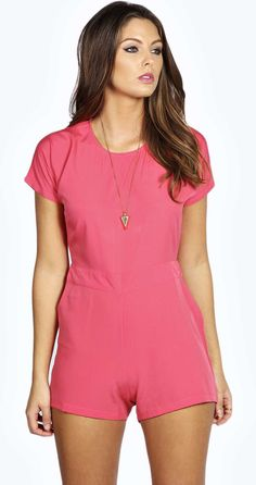 Womens rose playsuit from boohoo.com - £12 at ClothingByColour.com