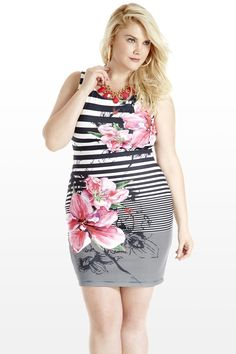 Orchid Hour Striped Plus Size Tank Dress (& so cute)