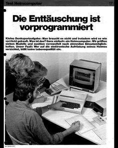 """""""Wer auf die elektronische Aufrüstung seines Heimes verzichtet, büßt keine Lebensqualität ein"""" - Stiftung Warentest 1984"""