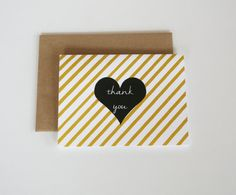 Trendy Thank You Cards  Kraft Envelopes  by ByGraceDesignsStudio