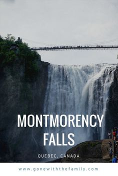 Things to see and do at Parc de la Chute Montmorency (Montmorency Falls Park) in Quebec, Canada. Toronto Canada, Summer Travel, Time Travel, Best Summer Vacations, Winter Travel, Travel Bag, Westminster, Vancouver, Canada Destinations