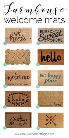 Looking for a welcome mat that is full of farmhouse charm? Check out this roundup of budget-friendly welcome mats over at Bellewood Cottage!