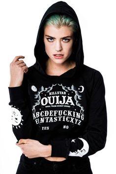 Ouija Crop Hoodie from Killstar