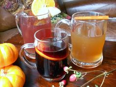 Two Hot Spiced Ciders & a Mulled Wine recipe for a day with a good book by a fire in a comfy chair!