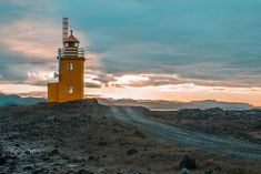Lighthouse - Lighthouse at the coast of Iceland
