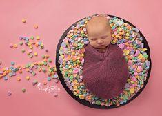 Newborn photography, newborn girl, candy hearts, Valentine's day, newborn valentine's day photography
