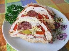 Sváteční kuřecí roláda Pancakes, Sandwiches, Breakfast, Morning Coffee, Pancake, Paninis, Crepes