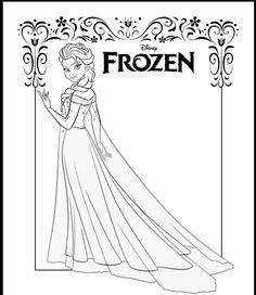 1000 Images About Frozen Colouring Pages On Pinterest